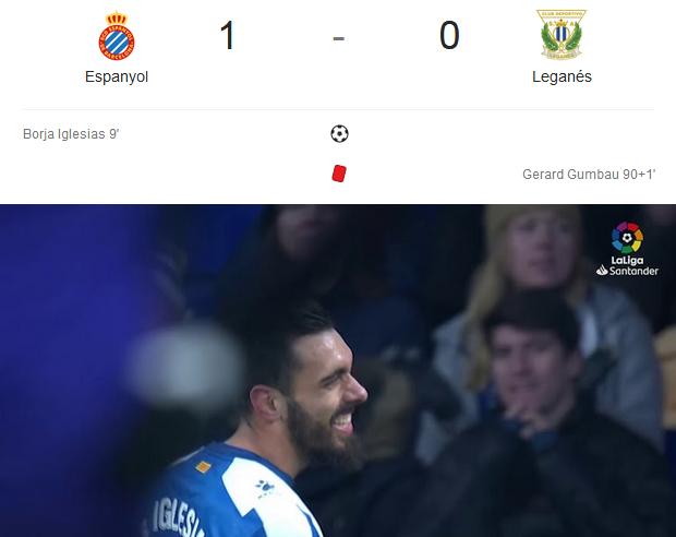 Liga Spanyol 2018/2019, Espanyol Vs Leganes 1-0