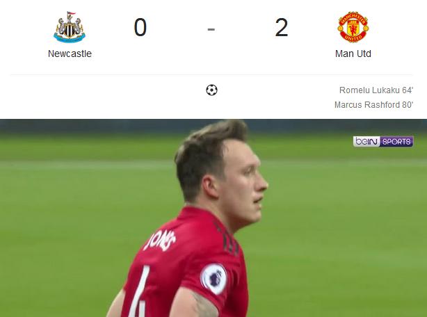 Liga Inggris 2018/2019 Newcastle Vs Manchester United 0 – 2